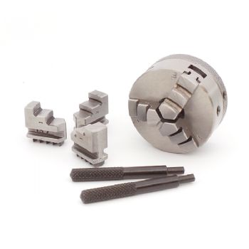 3-jaw, 50mm self-centring micro scroll chuck with  reversible jaws